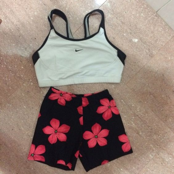 Flower Power Black Volleyball Shorts Volleyball licra shorts. Perfect for volleyball, crossfit, tennis every sport. Volley Pants Leggings