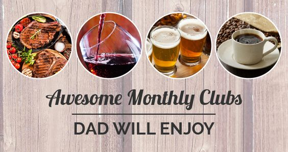 Know what's better than a Father's Day gift in June? How about gifts that come to the door every month? These monthly clubs are sure to hit the mark!  #fathersday #fathersdaygiftideas #fathersdaygifts