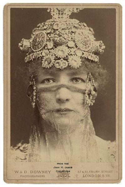 """Sarah Bernhardt (1844-1923) was a French stage and early film actress, and has been referred to as """"the most famous actress the world has ever known"""". Bernhardt made her fame on the stages of France in the 1870s, and was soon in demand in Europe and the Americas. She developed a reputation as a serious dramatic actress, earning the nickname """"The Divine Sarah""""."""