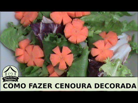 Como fazer cenoura em formato de flor