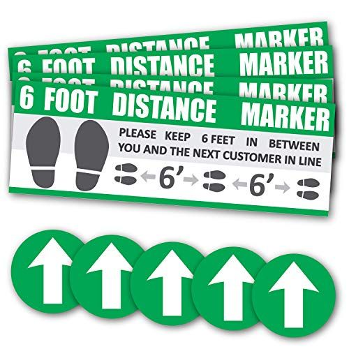 Social Distancing Wait Here Stand Here Keep 6ft In Between Distance Marker Floor Decal For Social Distancing While In Floor Decal Floor Stickers Sticker Sign