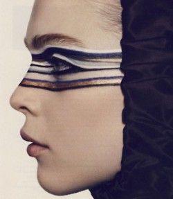 Face paints mask. Neat idea for fancy dress.