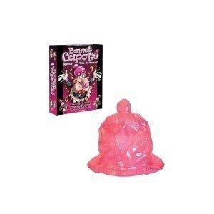 Bonnet gonflable en forme de préservatif. Idéal pour pénétrer dans l'univers de la déconnade ! Vu au Carnaval de Dunkerque et franc succès de l'heureux détenteur !
