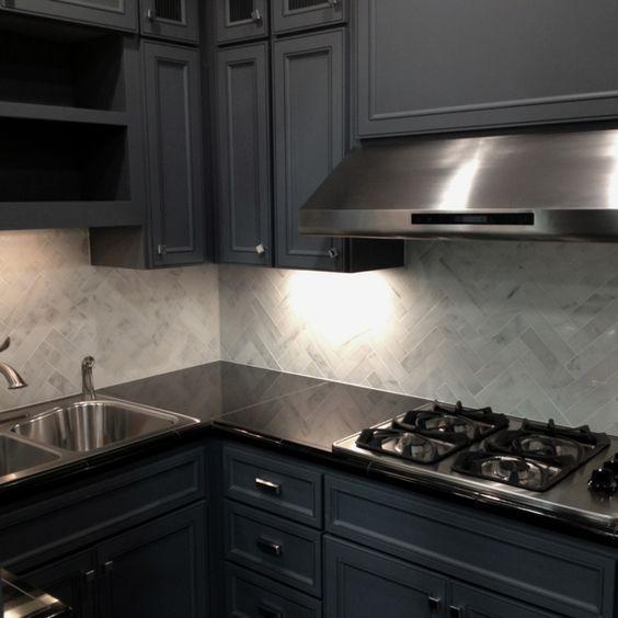 Best Dark Herringbone And Cabinet Lights On Pinterest 400 x 300