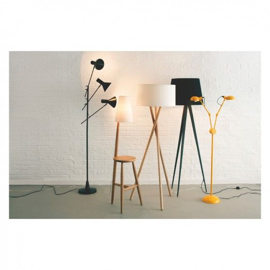 Wallace Oak Floor Lamp And Table With White Shade Oak Floor Lamp Floor Lamp Metal Floor Lamps