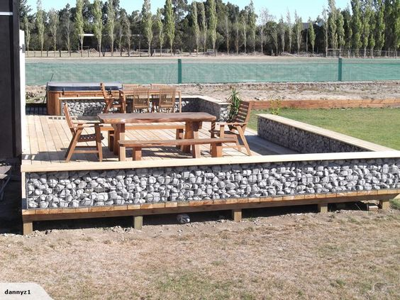 Trademe Co Nz Gabion Bench Seat New Zealand Garden