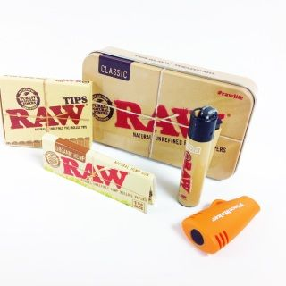 Includes:Orange PMG Chillum Clipper MiniStash Tin1 1/4 Organic Papersand Pre Rolled Tips
