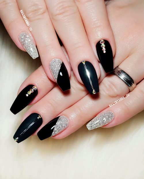 The Most Beautiful Black Winter Nails Ideas With Images Nails
