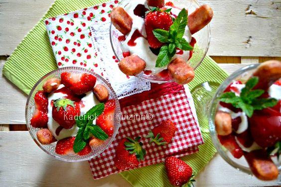 Recette tiramisu - Tiramisu express allégé aux fraises bio et yaourt grec à la vanille - Kaderick en Kuizinn #tiramisu #fraise #yaourtgrec #recettelégère
