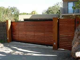 Timber Sliding Gate The Front House Ideas Pinterest