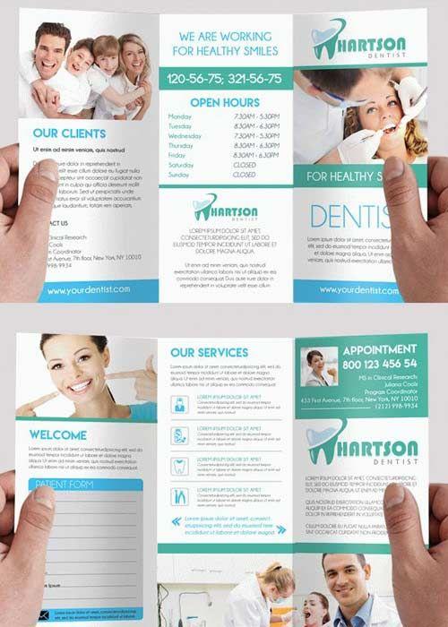 Dentist V2 Premium Tri-Fold PSD Brochure Template