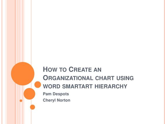 How To Create An Organizational Chart In Word  Organizational