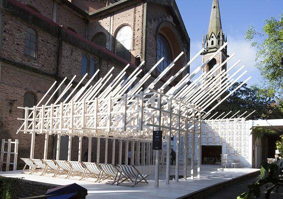 julio oropel constructs swimming wood restaurant expansion in argentina - designboom | architecture