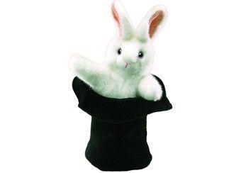 Magische Handpuppe 'Großer Hase im Hut' von Folkmanis