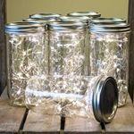 Mason Jar Fairy Lights, 24 Ounce, Wide Mouth, Warm White, 9 Pack