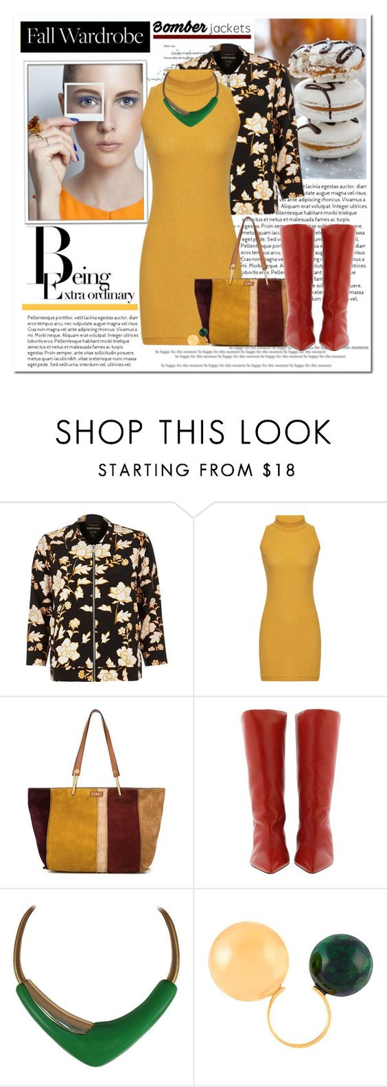 """""""Bomber Jacket"""" by tinayar ❤ liked on Polyvore featuring River Island, Chloé, Isabel Marant, Monet and Marni"""