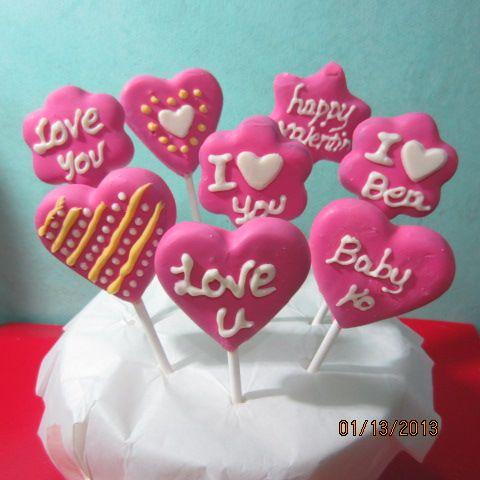 My heart cake pops