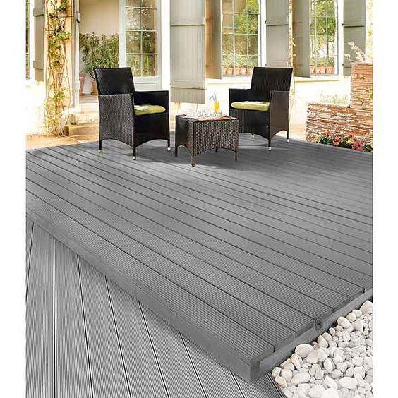 Komplett-Set: WPC-Terrassendielen »Silver Cedar« inkl. Unterkonstruktion
