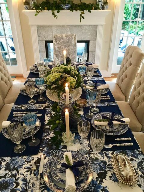 Get Inspired By These Blue Table Setting Ideas And Start Preparing