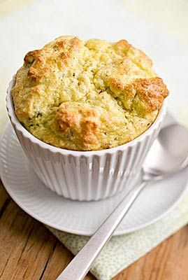 A soufflé is surprisingly easy to prepare, especially if you have an electric mixer for whipping air into the egg whites. Soufflés do not wait, so serve them as soon as they come out of the oven. Enjoy with fresh fruit for brunch or a green salad for dinner.