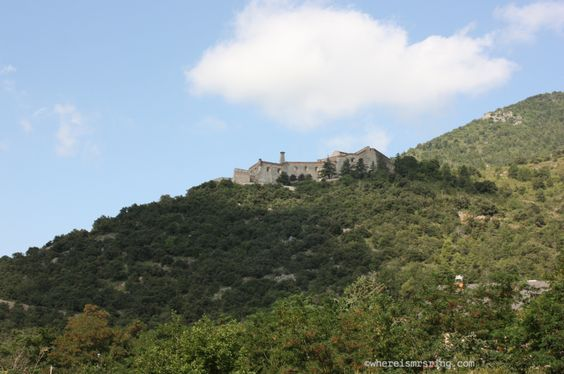 It's common to see castles nestled on top of the mountains every now and then during our road trip to Andorra #travel
