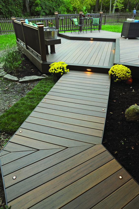 Timbertech decking walkway from our earthwood evolutions for How to make a decking platform