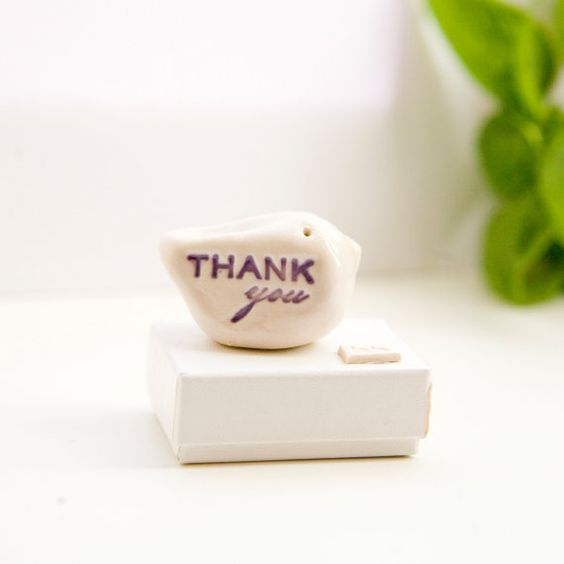 Thank you gift bird ceramic messenger thank you bird sculpture thank you gift for my references little clay bird keepsake by dianaparkhouse on etsy negle Image collections