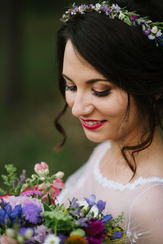 Opaska Do Wlosow Srebrna Na Druciku Slub 8397351300 Oficjalne Archiwum Allegro Flower Hair Pins Wedding Hair Jewelry Wedding Pink Flower Hair