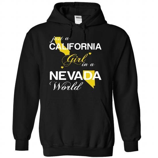 Just A California Girl In A Nevada World T Shirts, Hoodies. Get it now ==► https://www.sunfrog.com/Valentines/-28CAJustVang001-29-Just-A-California-Girl-In-A-Nevada-World-Black-Hoodie.html?57074 $39