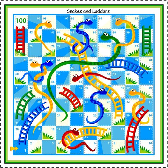 snakes and ladders template - Google Search