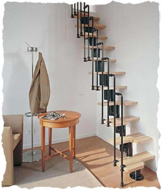 Space saving staircase design (=) | staircases | Pinterest ...
