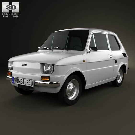 Fiat 126 1976 3d model from humster3d.com. Price: $75