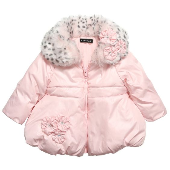 8672730afbc40 Kate Mack Girls Pink Puffer Coat at Childrensalon.com