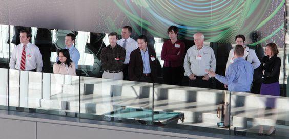 David Eccles School of Business alumni in Utah County take a tour of the Adobe facilities in Lehi.