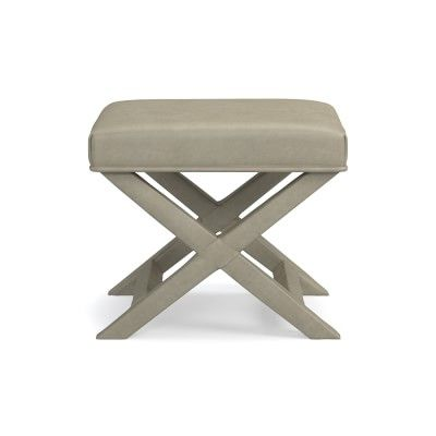 X Base Leather Stool Leather Stool Stool Vintage Chairs