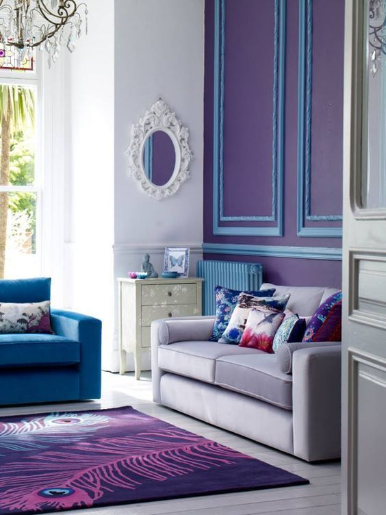 Navy Blue Purple Home Decor Inspiration Purple Home Decor Home Decor Purple Home