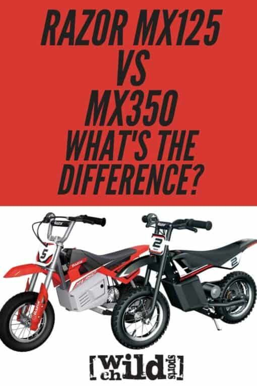 Razor Mx125 Vs Mx350 In 2020 Electric Dirt Bike Kids Sports Razor