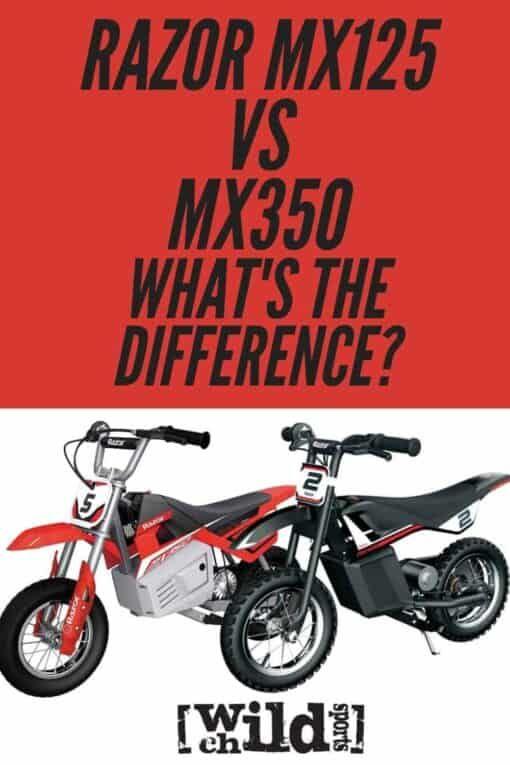 Red Razor Dirt Bike : razor, Razor, MX125, MX350, Electric, Bike,, Sports,
