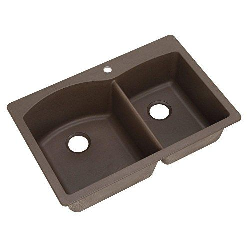 Blanco 440213 Diamond Double-Basin Drop-In or Undermount Granite Kitchen Sink, Cafe Brown