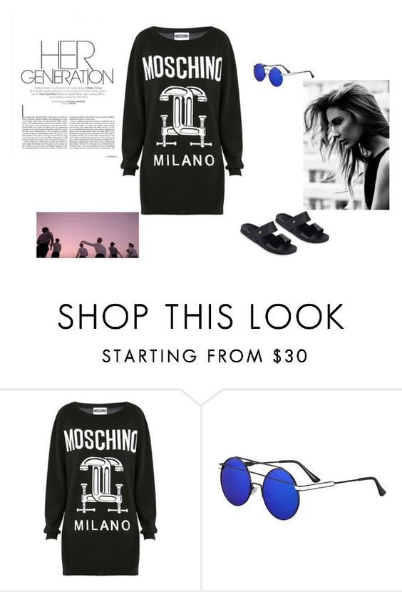 """""""#freedom #lifestyle"""" by talitah-silvaa ❤ liked on Polyvore featuring beauty, Moschino and Melissa"""
