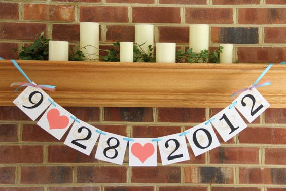 Save the Date Wedding Banner Photo Prop Custom by BannerBash, $18.00