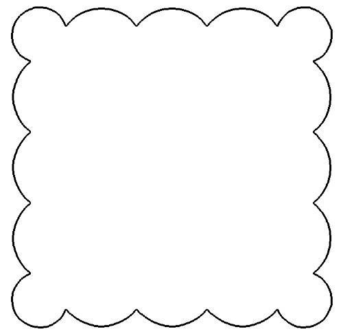 Free Scallop Patterns for Scrapbooking - Scalloped Square