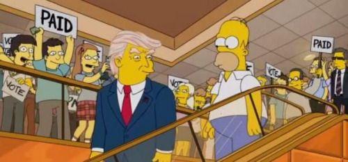 Guionista de Los Simpsons predijo candidatura de...