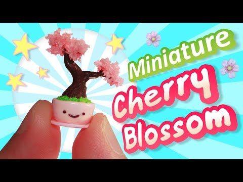 Sakura Crafts Miniature Polymer Clay Cherry Blossom Tree By Mushroombombom Cherry Blossom Sakura Tree Blossom