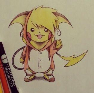 pikachu in raichu costume concept.   Tattoo ideas ...