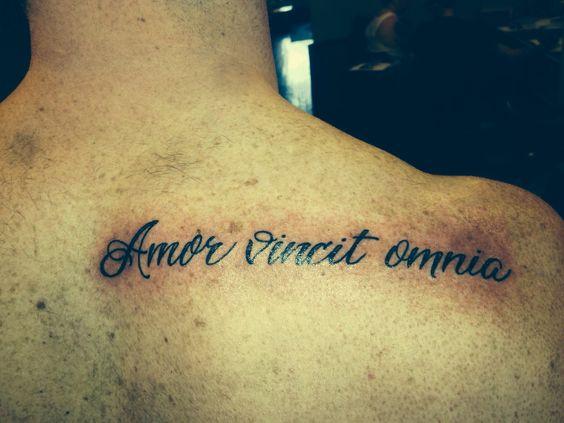 """Love Conquers All"" #tattoo #AmorVincitOmnia"