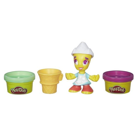 Play-Doh Town Ice Cream Girl Includes figure with hat, cone, and 2 cans of Play-Doh Brand Modeling Compound.