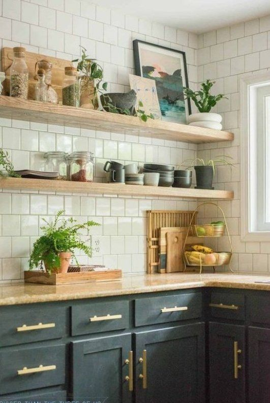 Diy Open Shelving Kitchen How To Mount A Floating Shelf How To Hang Heavy Shelves On Drywall H Open Kitchen Shelves Open Kitchen Cabinets Kitchen Shelves