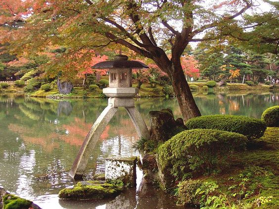 Kenroku-en Gardens. One of the 3 great gardens of Japan. 25 acres designed and laid out originally in the seventeenth century.