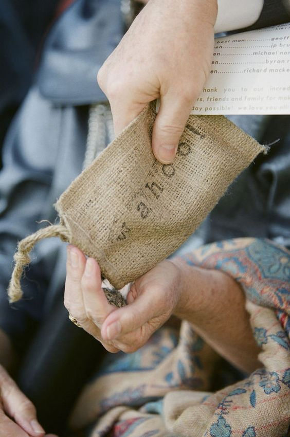 DIY bags for lavender toss.